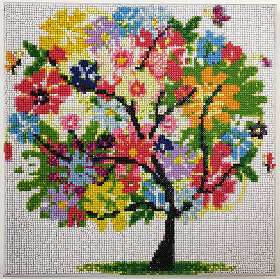 "CAK-I: ""Funky Tree"" Crystal Art Kit on Canvas, 30x30cm (MEDIUM)"