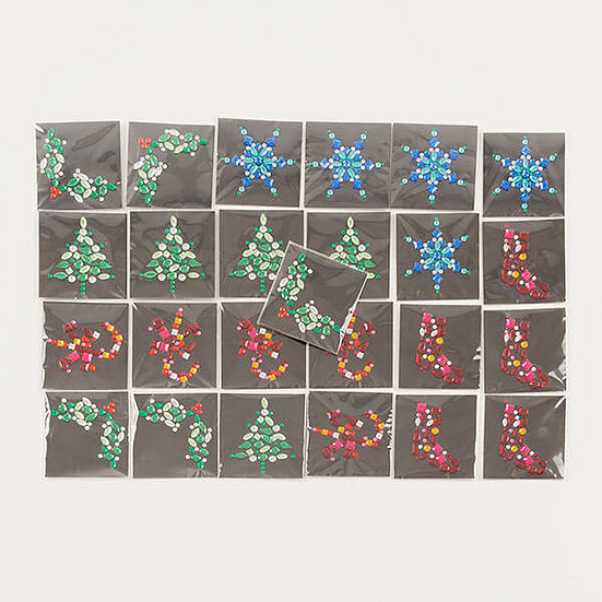 Christmas Gems - 25 Self-Adhesive Gem Toppers