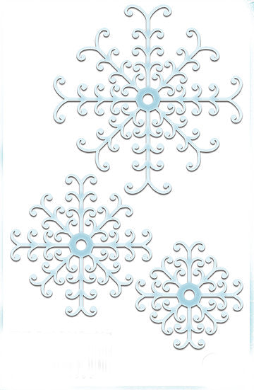 Stylish Snowflakes Die Set (DBX09)
