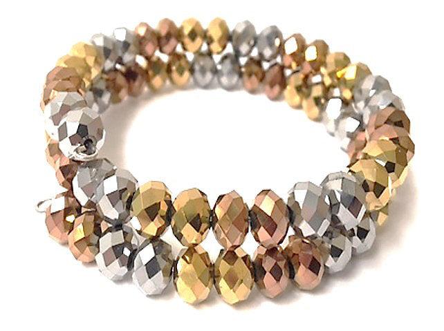 Crystal Collection - 3 Strands Of Faceted Crystals