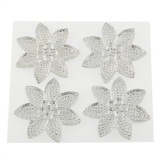 Clear Crystal Pretty Petal Self Adhesive Gems (DBG02-CL)