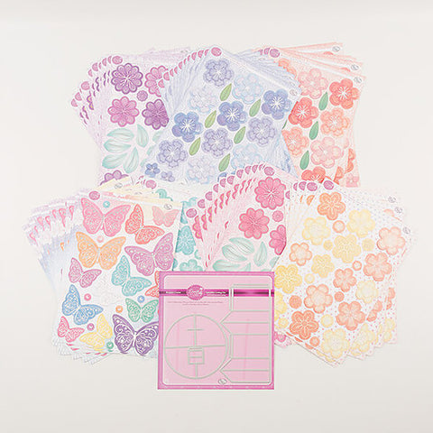 Bouquet Creator Die Set With Fantasy Flower Die Cut Toppers