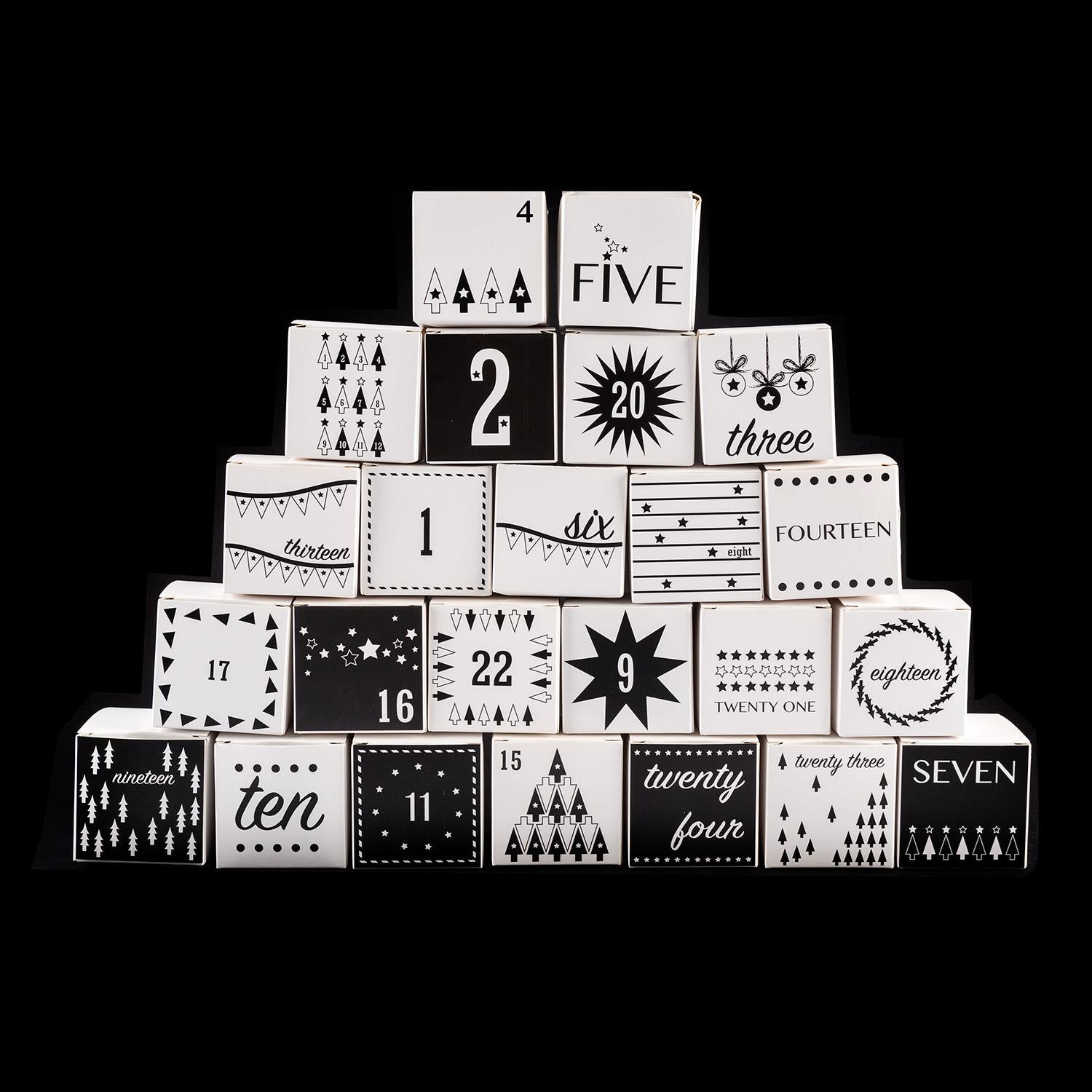 The Crafty Lass Set of 24 Self Assemble Advent Boxes