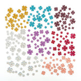 8 PACKS OF FABULOUS FLOWERS FLAT BACK RESIN GEMS -160 GEMS