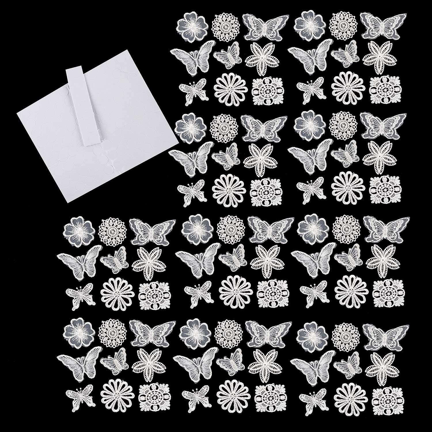 Set of 90 Assorted Lace Motifs