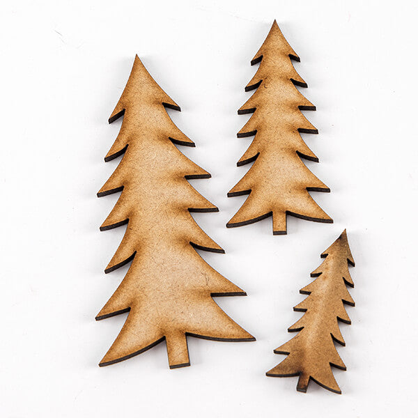 Lynette Jasper Set of 48 MDF Christmas Trees