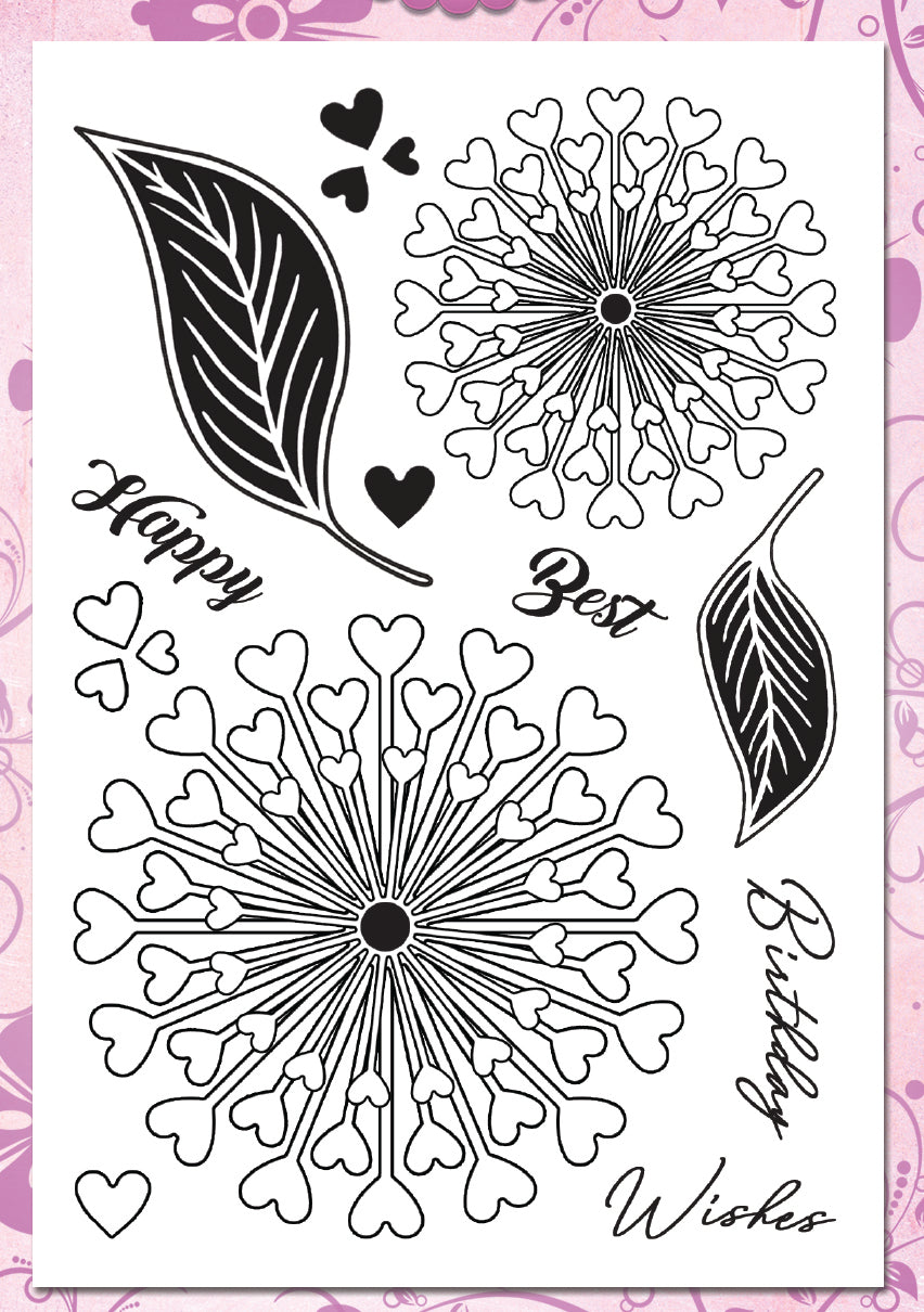 Charlee Flower Premium Stamp Set