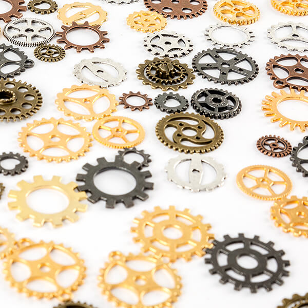 150G OF ASSORTED METAL COGS