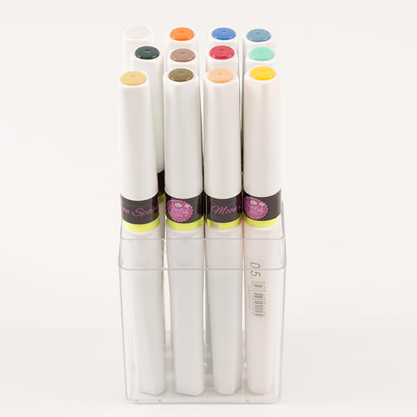 12 x Moonsparkle Waterbased Glitter Pens - Set 1