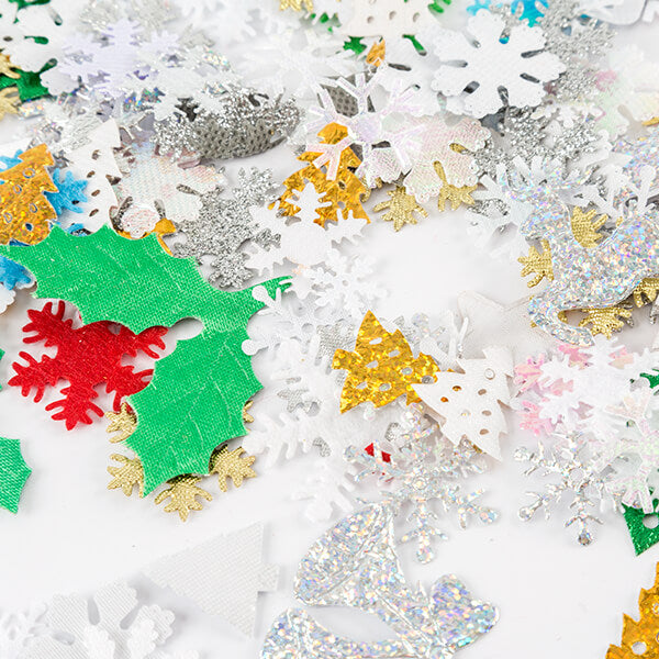 200 Assorted Christmas Fabric Motifs