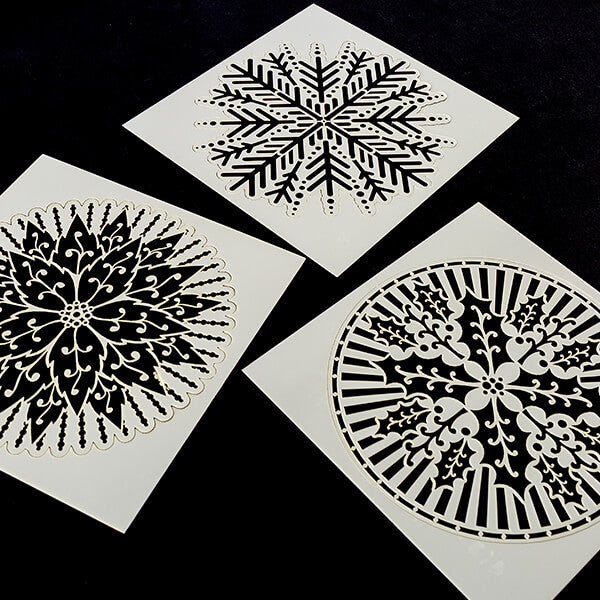 "Set of 6 x 6"" Festive Mandala Stencils"