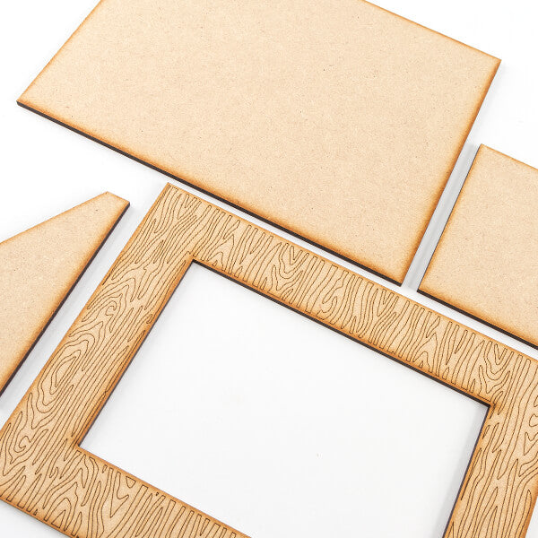 Set of 3 MDF Grain Effect Frames