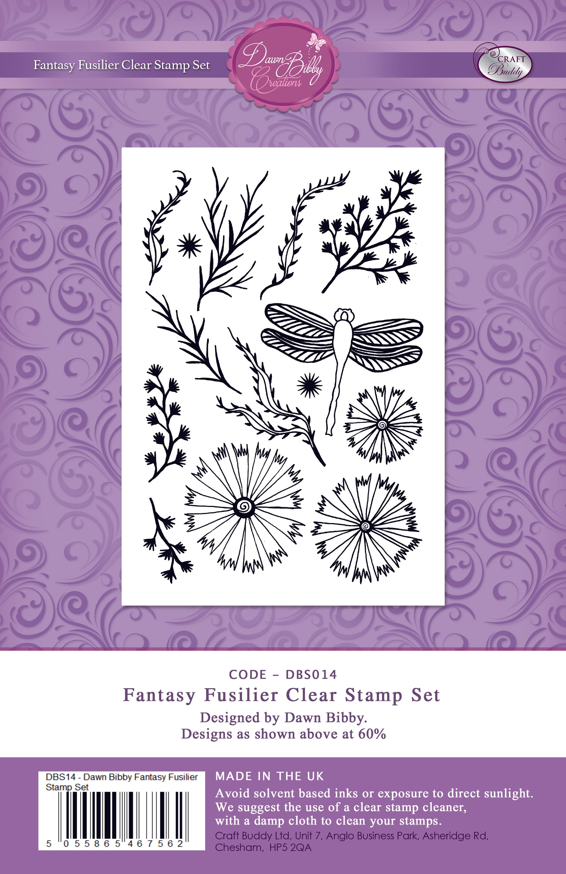 Fantasy Fusilier Clear Stamp Set