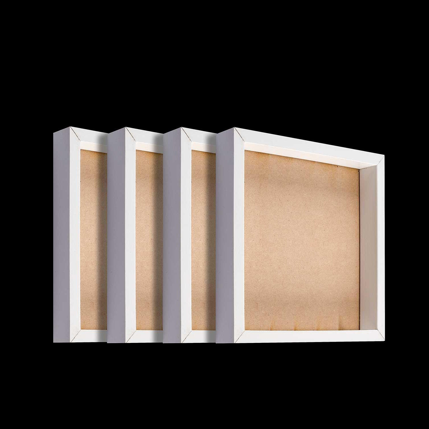 Set of 4 White Shadow Frames - 19.5 x 19.5cm Each