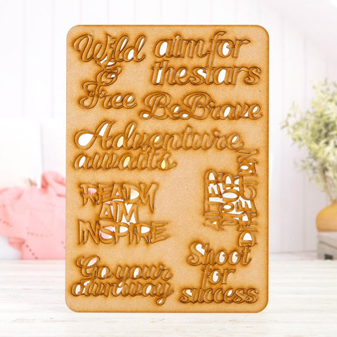 Pretty Gets Gritty - MDF A4 Grab Sheets - Gritty Quotes 1 (Wild Free)
