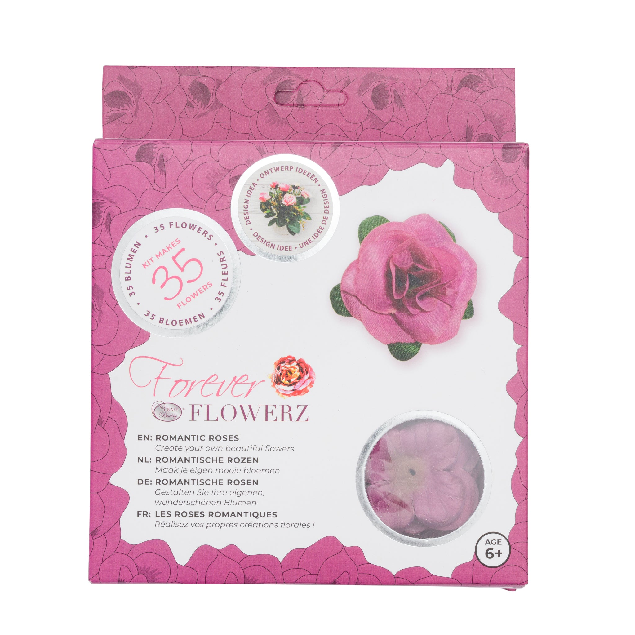 Flower Making Kit - Romantic Roses - MAUVE - FF05MV