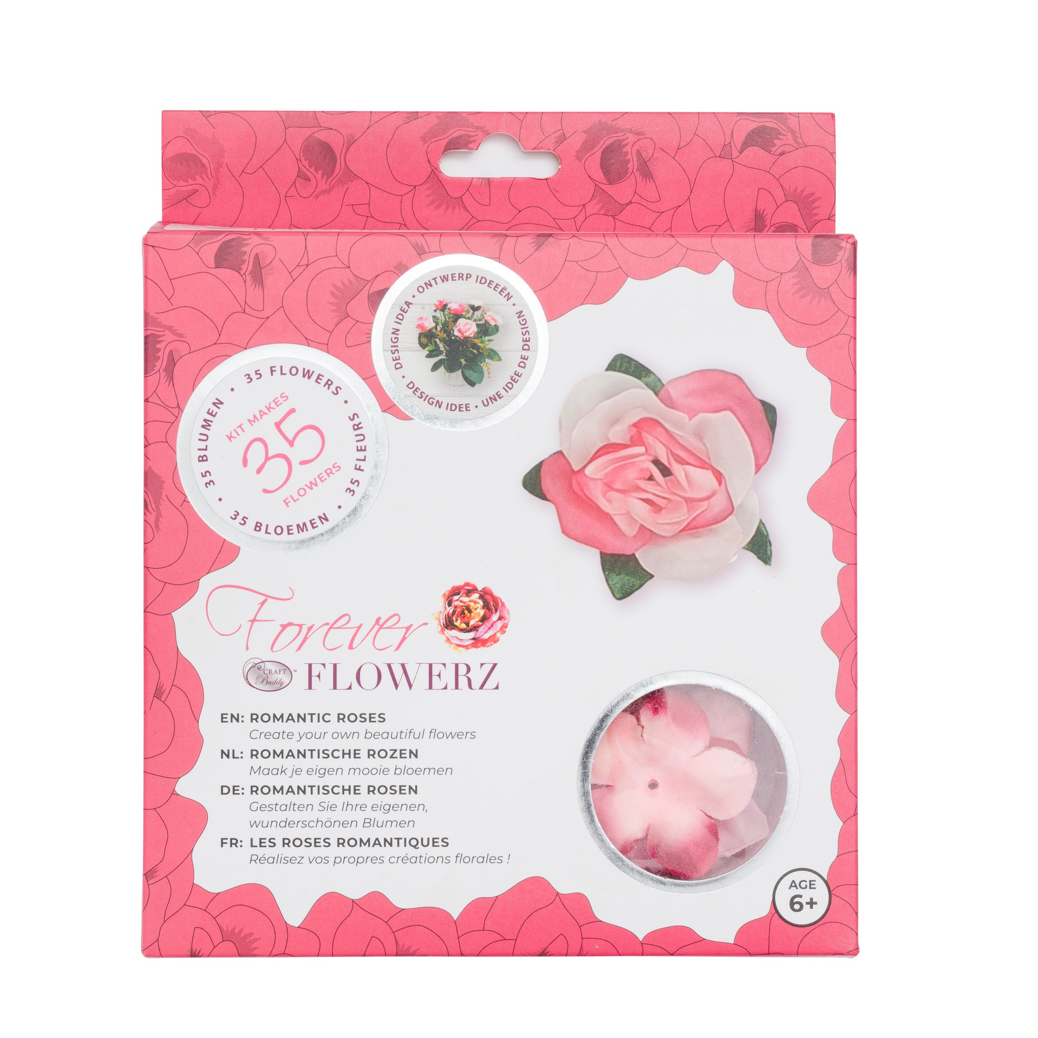 Flower Making Kit - Romantic Roses - PINK - FF05PK