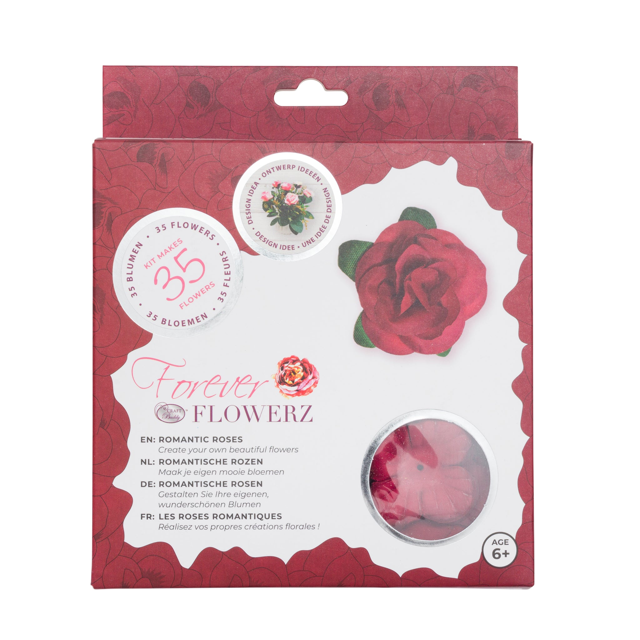 Flower Making Kit - Romantic Roses - BURGUNDY - FF05BG