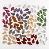 Set of 100 Luxury Acrylic Leaves in Mixed Colours