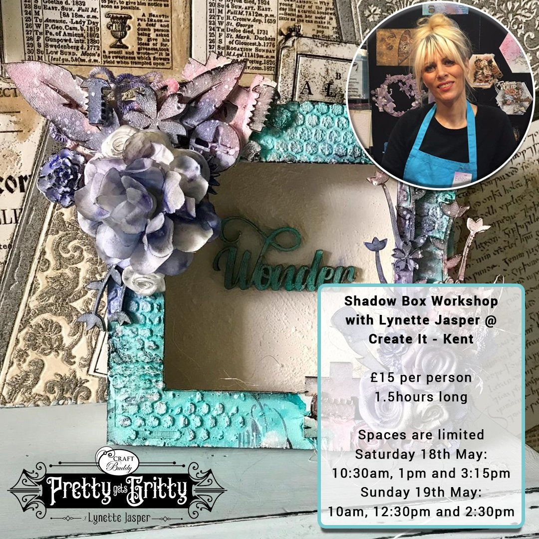 Pretty Gets Gritty - Shadow Box Workshop - Create it Kent