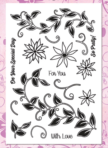Leafy Borders Premium Stamp Set