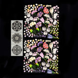 Mega Floral Explosion Embellishment Pack with 3 Free Mandala Stencils Worth £11.97