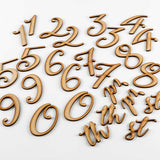 Set of 26 MDF Numbers