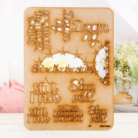 "Pretty Gets Gritty - MDF A4 Grab Sheets - Pretty Quotes 2 ""Shine Like the Stars"""