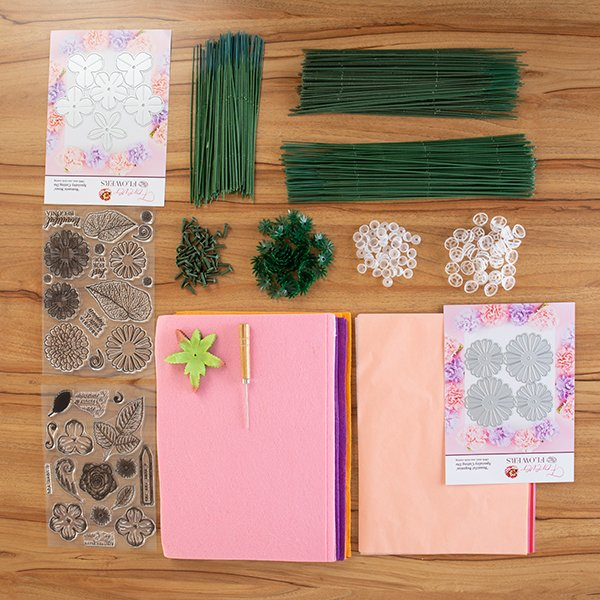 Forever Flowerz: Roses & Begonias Complete Collection including Dies, Stamps, Felt, Tissue and Accessories