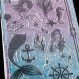 Nautical Adventure Complete Set of Stamps, Stencils & 20 Sequin Mermaid Tails