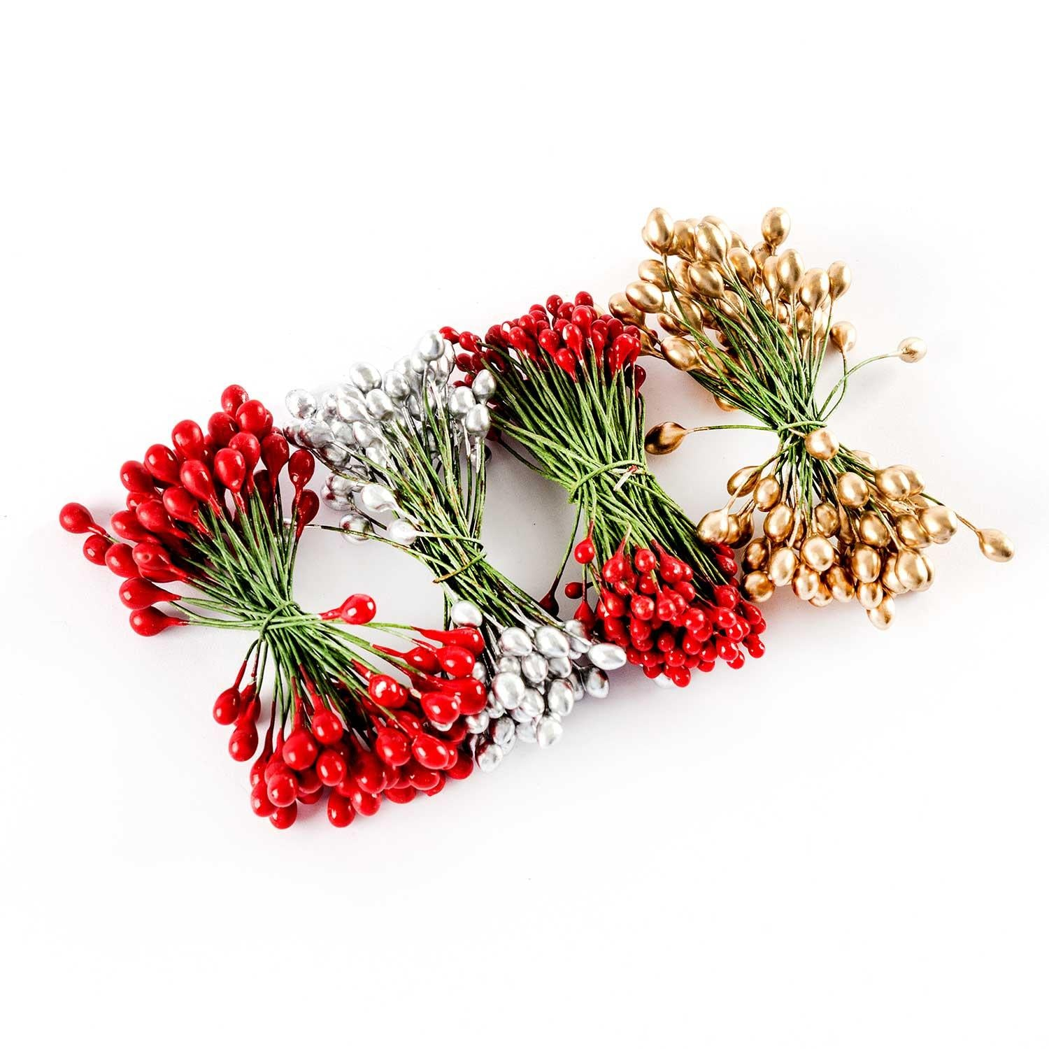 Set of 4 Festive Flower Stamens