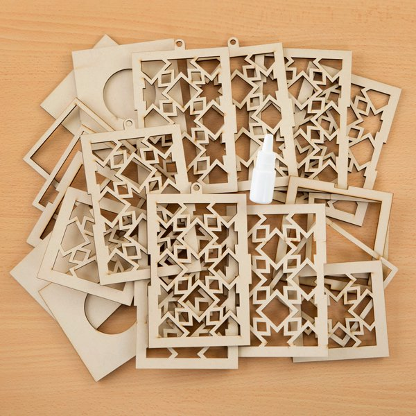 MDF Star Lantern Kit with Glue - Includes 2 Kits