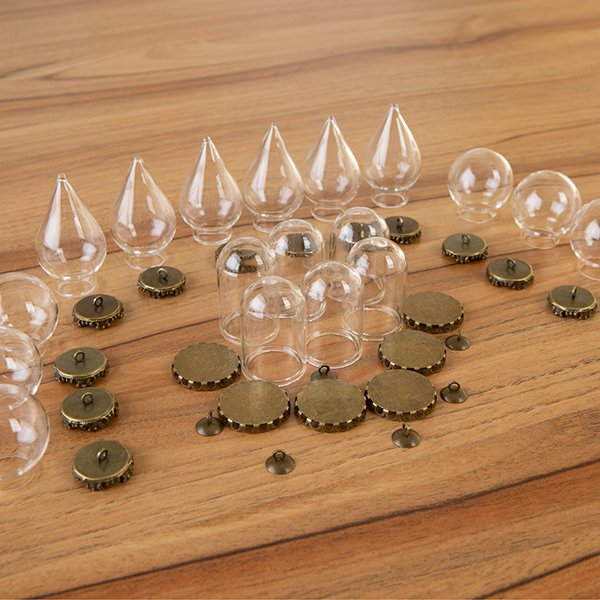 Craft Buddy Set of 18 Miniature Glass Domes - CB-MINGD18