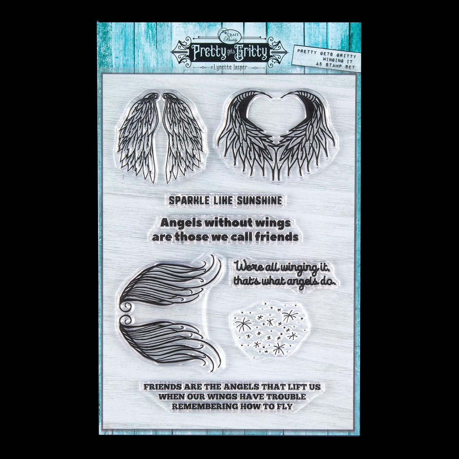 Lynette Jasper Winging It A5 Stamp Set - 8 Stamps