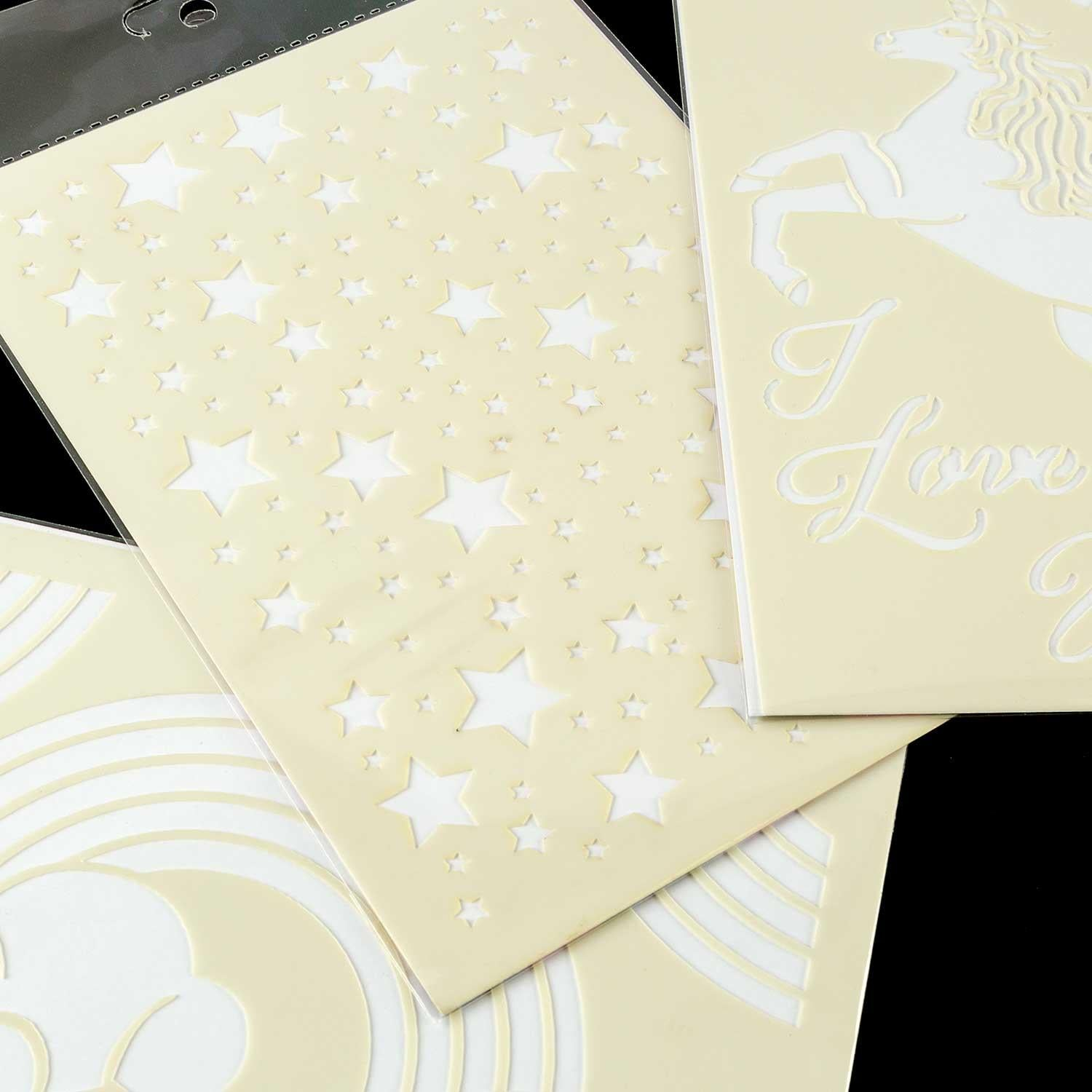 Magical Unicorns Set of 3 A5 Premium Embossing Stencils