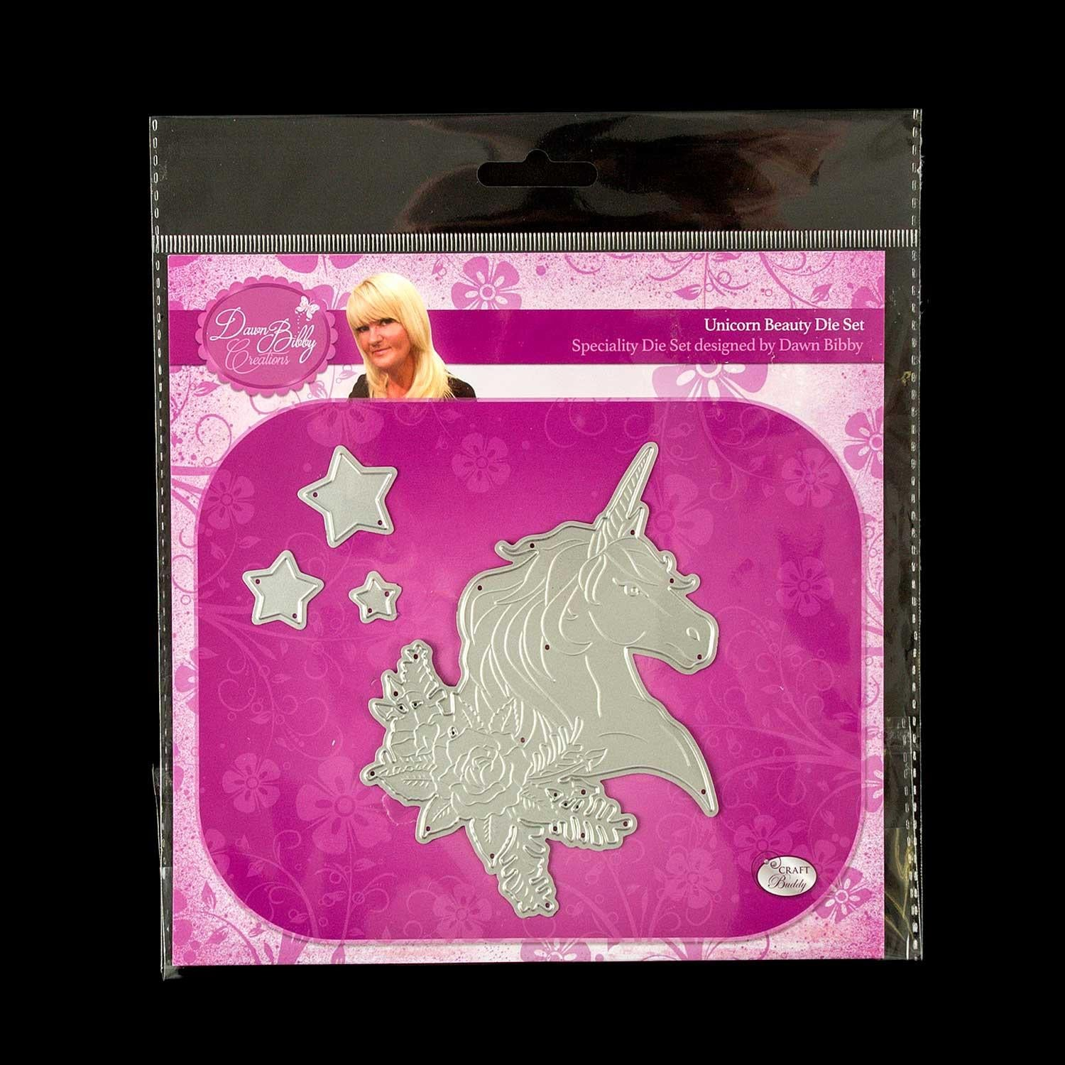 Dawn Bibby Unicorn Beauty Die Set - 4 Dies