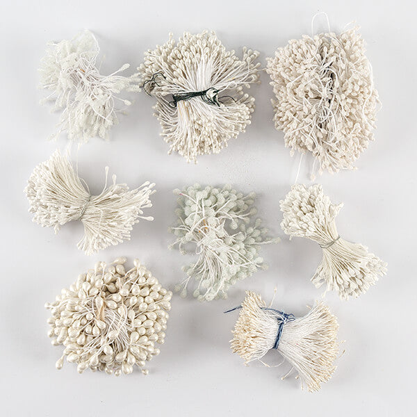 8 Bunches of White Flower Stamens