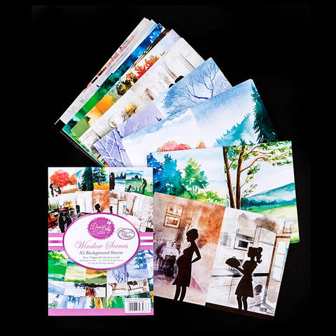 Pack of 70 A5 Window Scene Papers
