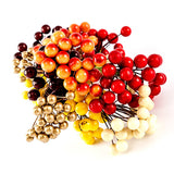 6 Bunches of Autumn Berry Embellishments