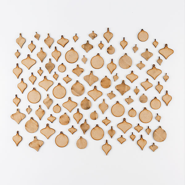 Lynette Jasper Set of 96 MDF Baubles