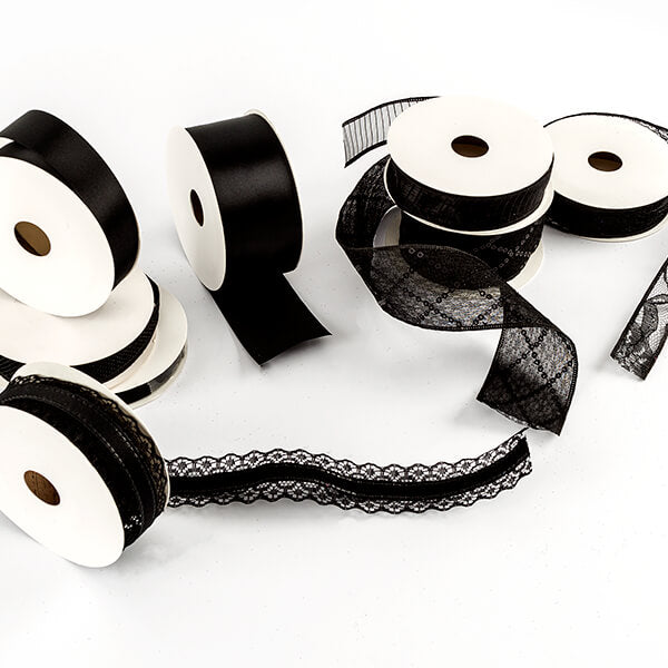 40m of Premium Black Ribbon