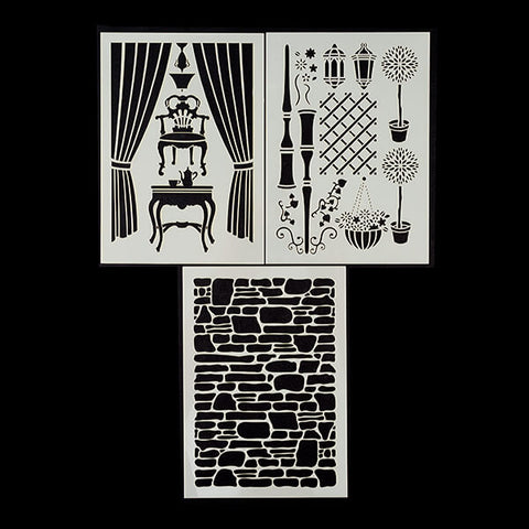 Set of 3 Build a Scene Stencils