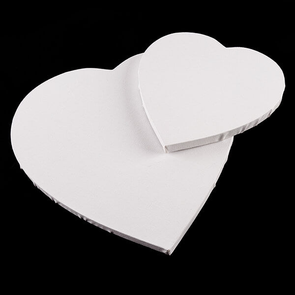Set of 4 Shaped Canvases - 2 Heart and 2 Round