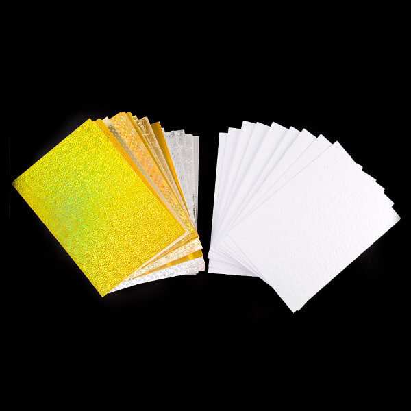 150 x A4 Card Collection - Holographic, Embossed & Foil - 250GSM