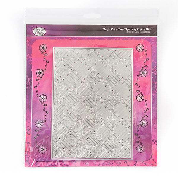 Triple Criss Cross Background 2 Dies Set
