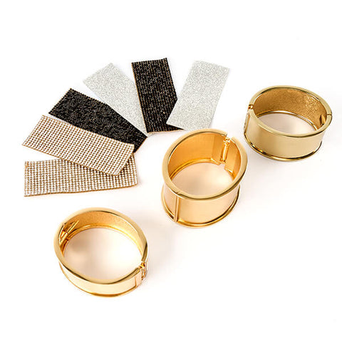 Bijoux By Me Diamante Cuff Bracelet Kit - Makes 3