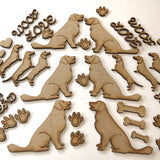 Laser Cut MDF Pet Embellishment Set