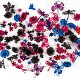144 Piece Fantasy Glitter Embellishment Kit - Vibrant