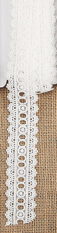CL-3  Polyester Crochet Lace Trim - 5 yards 3.5cm