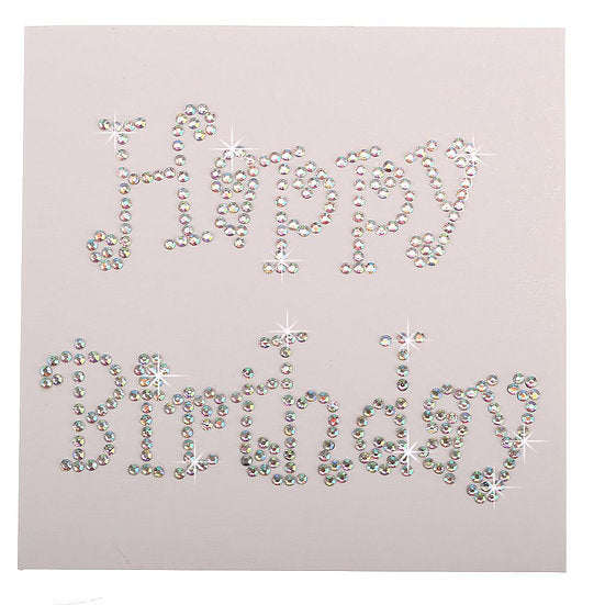 L Birthday Wishes Crystal Card Kit